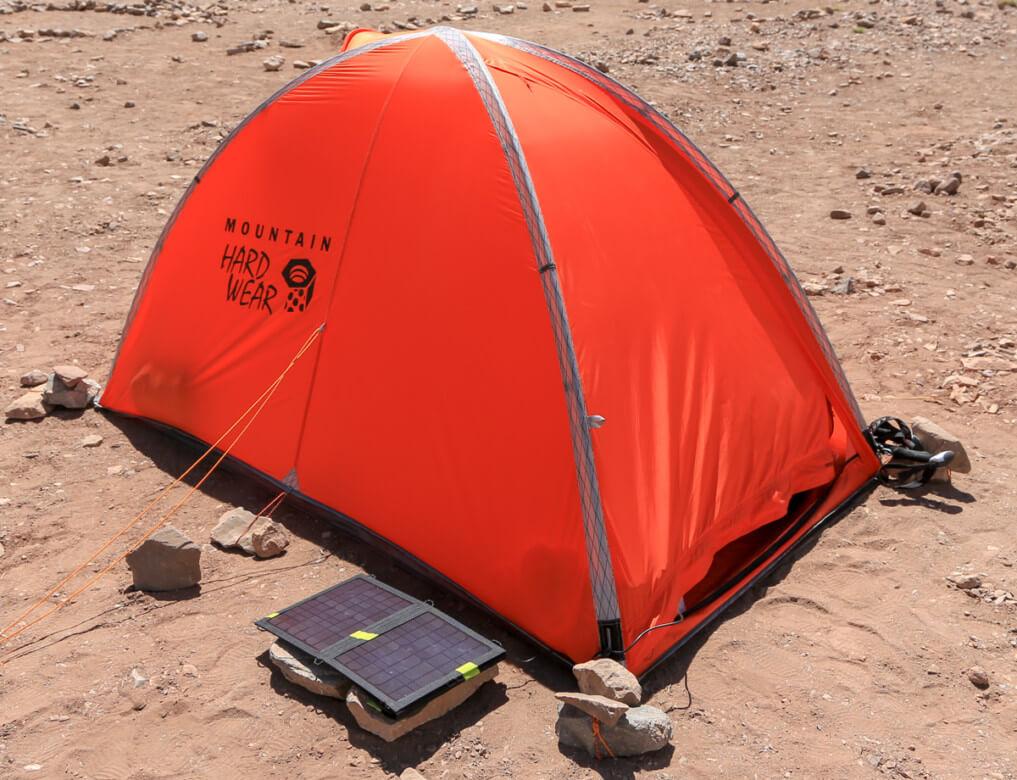 コンフルエンシアでテント泊