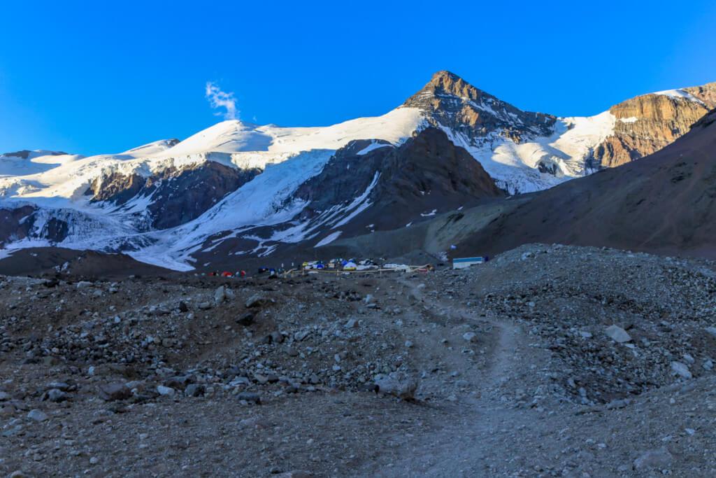 アコンカグア登山 プラザ・デ・ムーラスへの道10