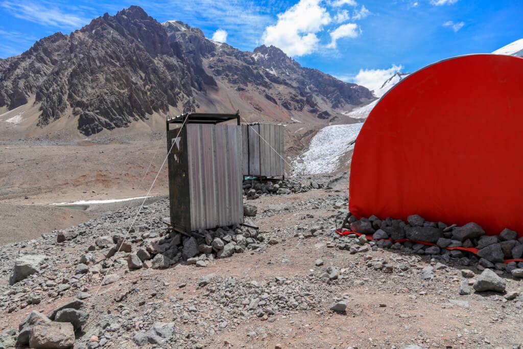 アコンカグア登山ベースキャンプ プラザ・デ・ムーラスのトイレ