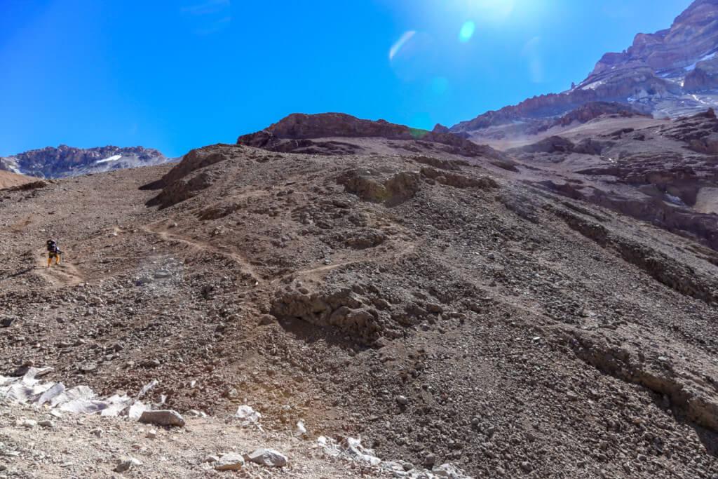 アコンカグア登山ベースキャンプ プラザ・デ・ムーラス〜キャンプカナダ1