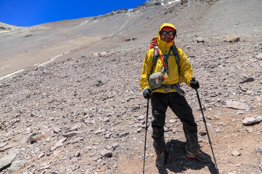 アコンカグア登山 キャンプカナダでOさんとお別れ