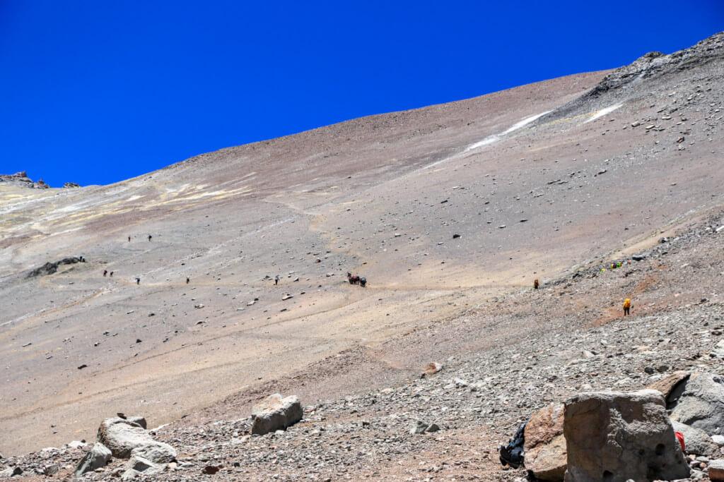 アコンカグア登山 キャンプカナダからニドデコンドレス1