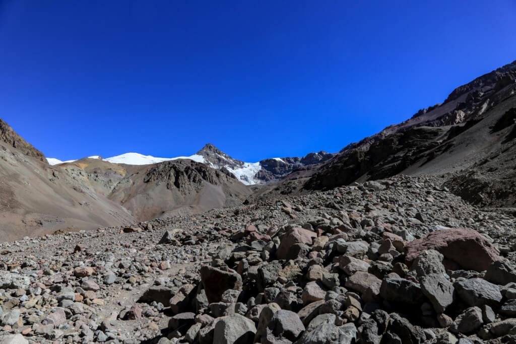 アコンカグア登山 プラザ・デ・ムーラスから下山1