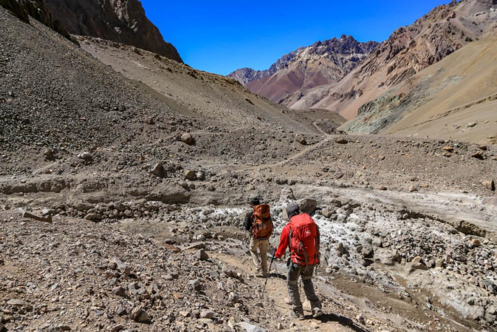 アコンカグア登山 プラザ・デ・ムーラスから下山2