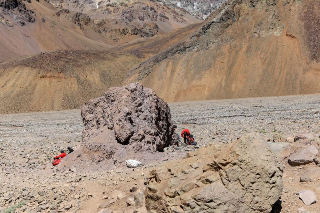 アコンカグア登山 プラザ・デ・ムーラスから下山4