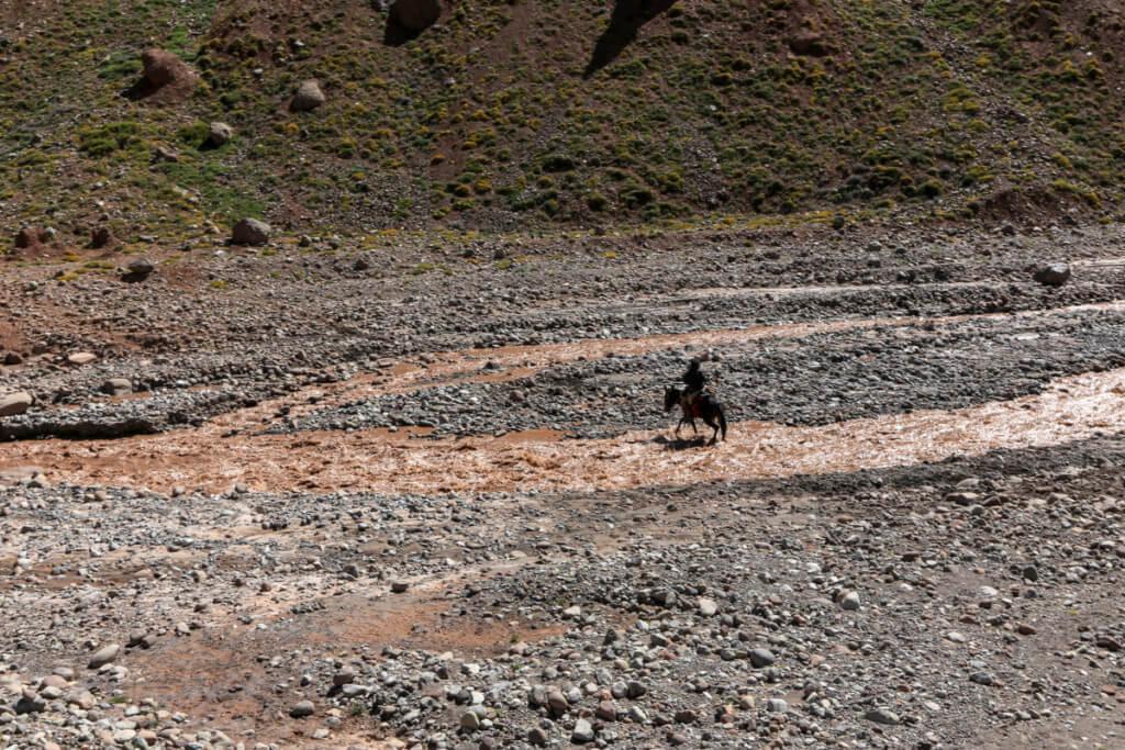 アコンカグア登山 ムーラの渡渉