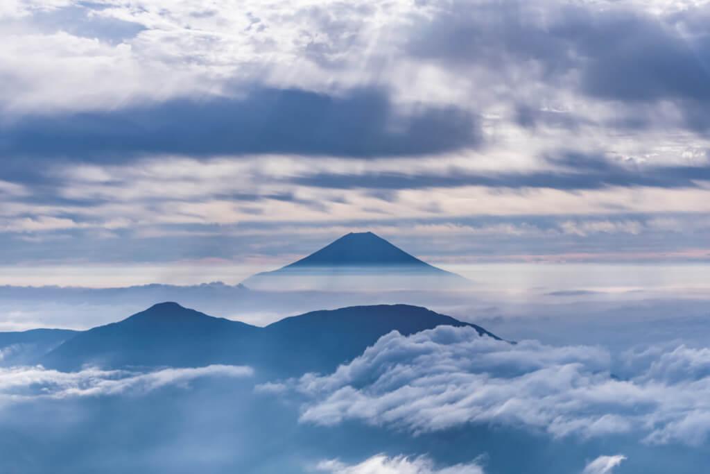 聖岳からの富士山