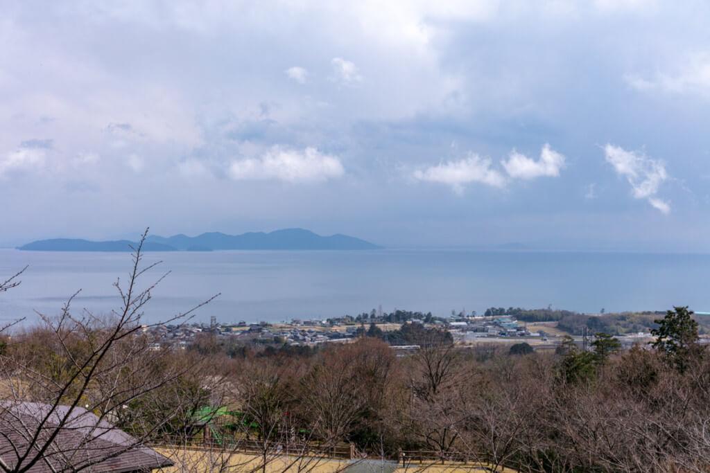 登山ガイド 危急時対応技術義務講習会 開催場所から見える琵琶湖