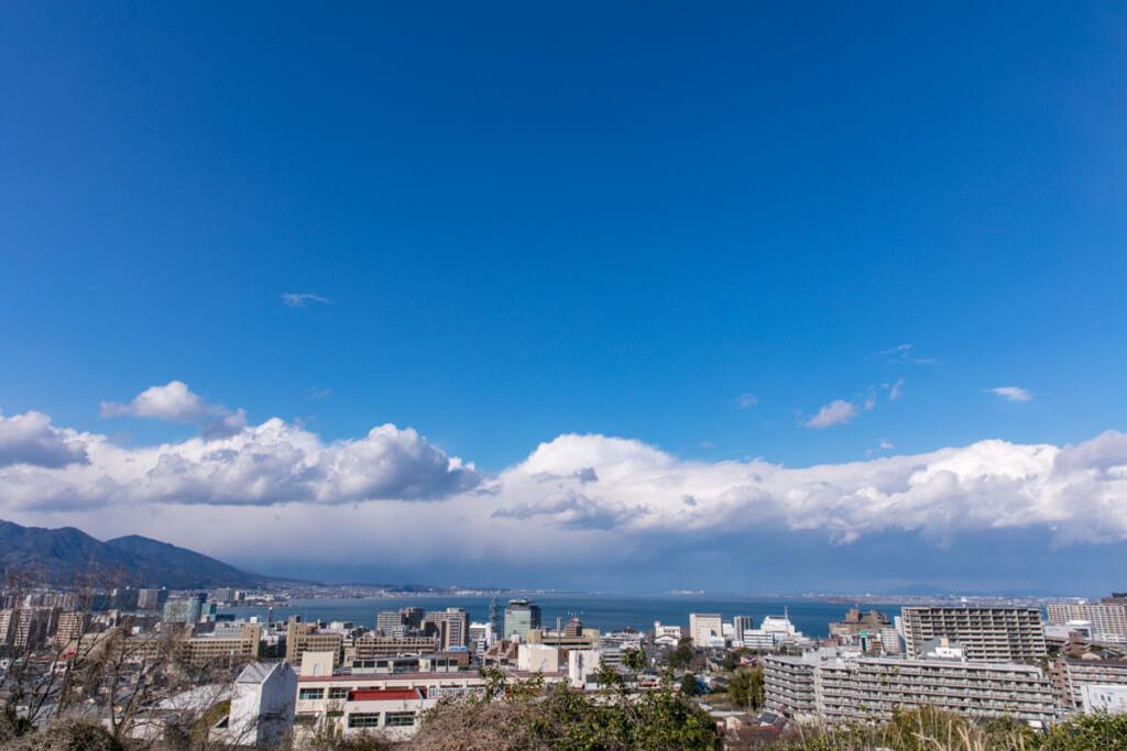 大津SAからの琵琶湖