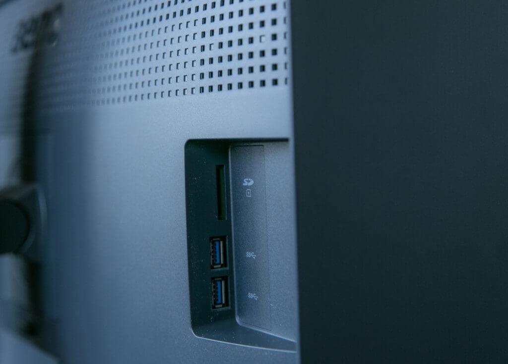 BenQ SW271 USB, SDカードスロット
