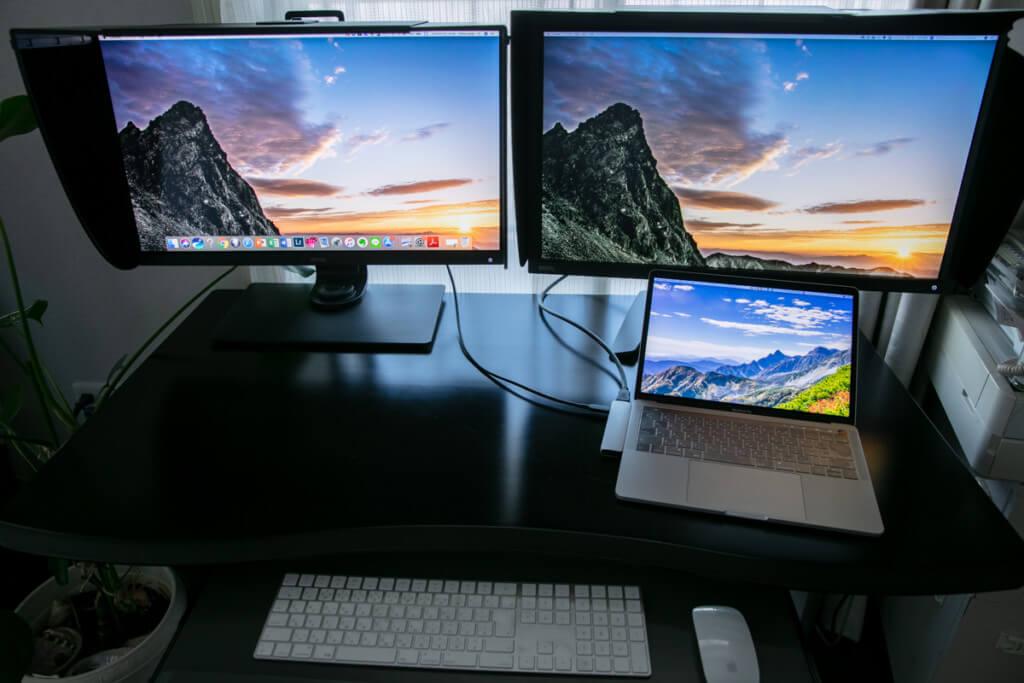 BenQ SW271, PV270, MacBook Pro 2018