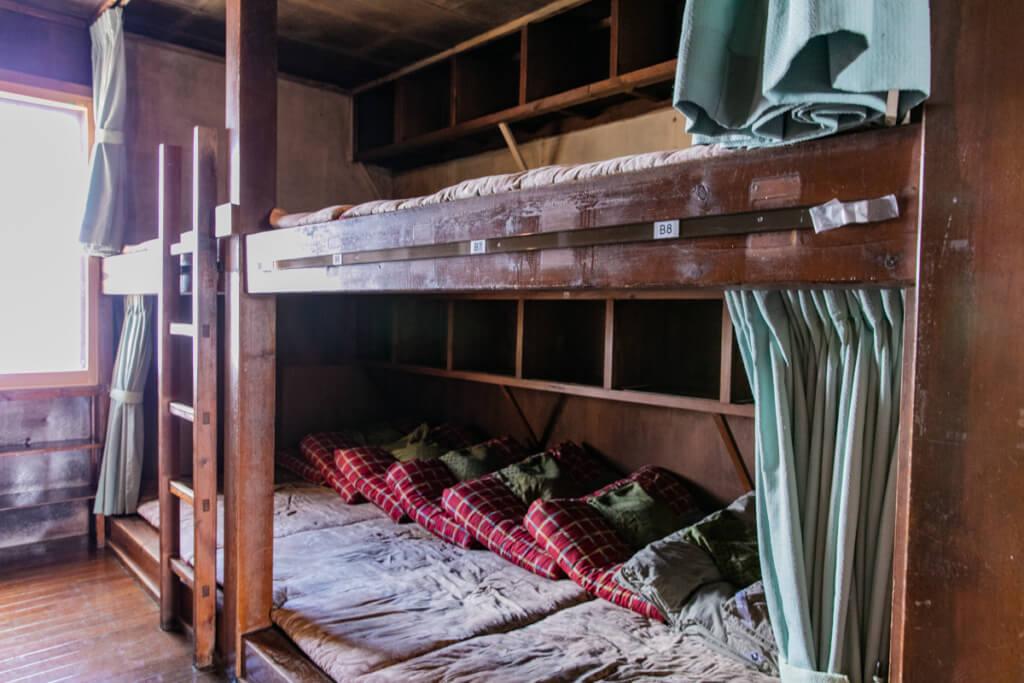 槍ヶ岳山荘 寝室
