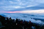 富士山山頂からの雲海