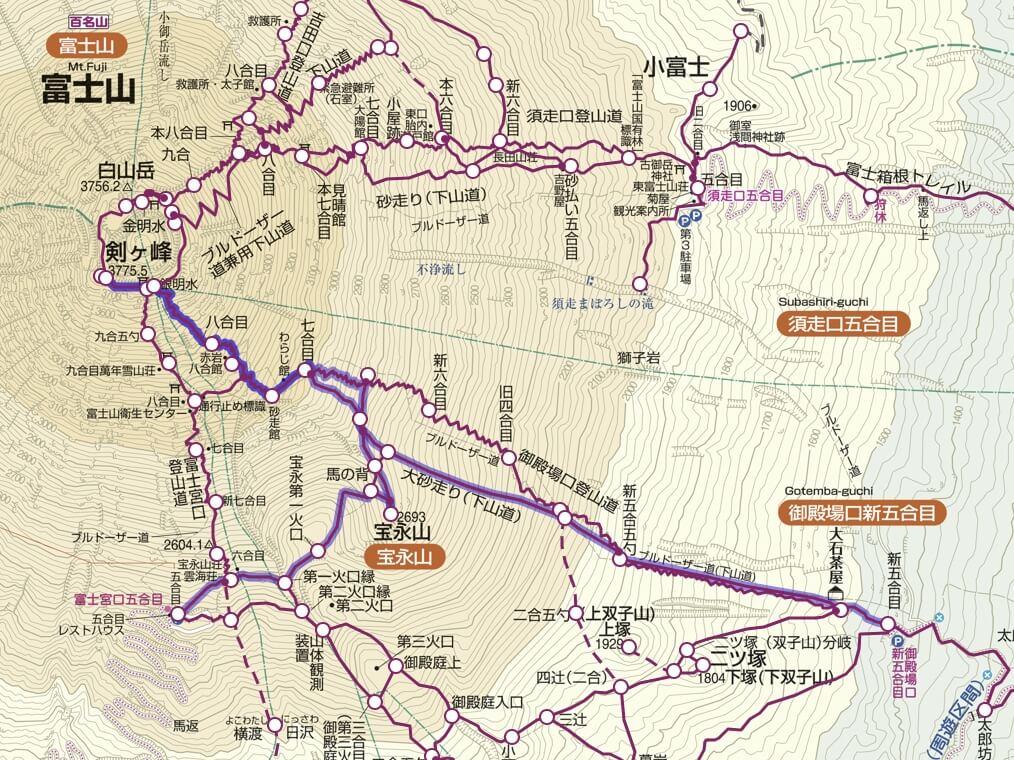 富士山プリンスルート地図