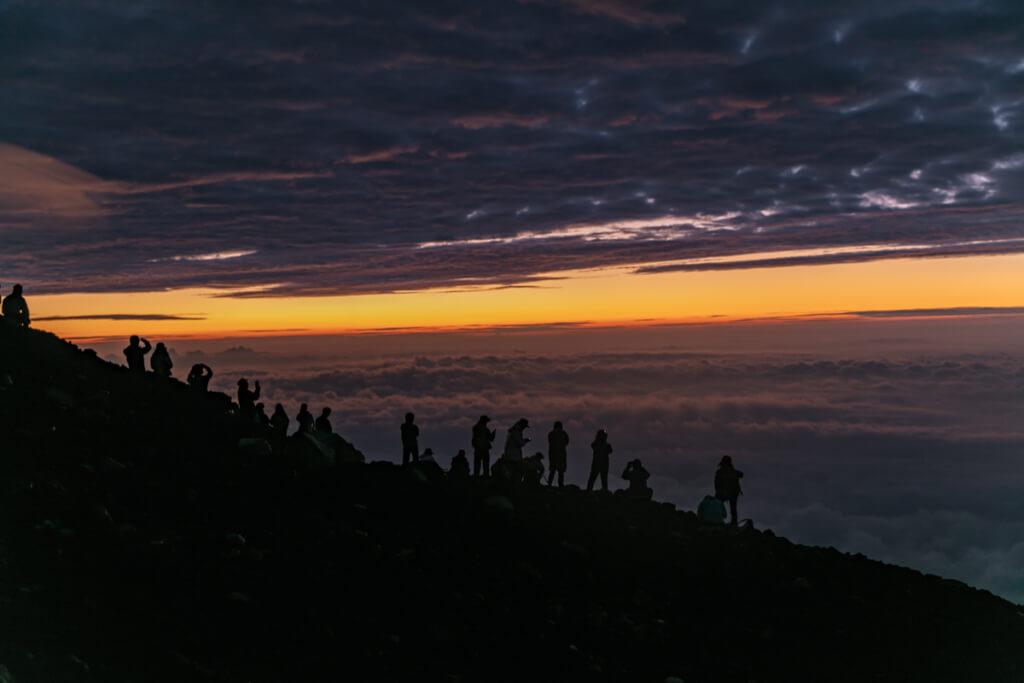 富士山 御来光直前の空1