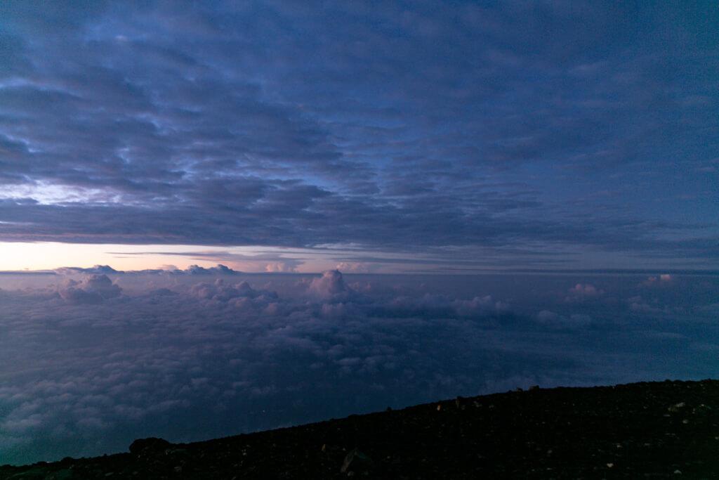 富士山 御来光直前の空3