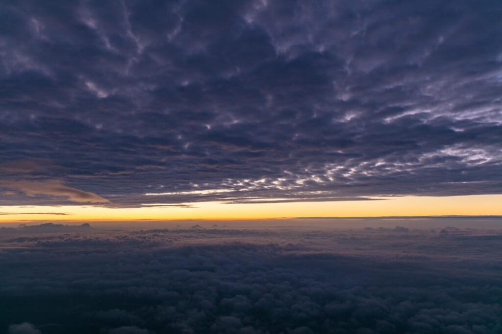 富士山 御来光直前の空4
