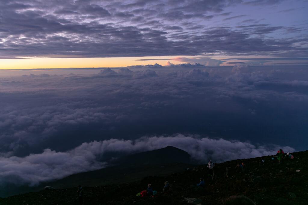 富士山 御来光直前の空5