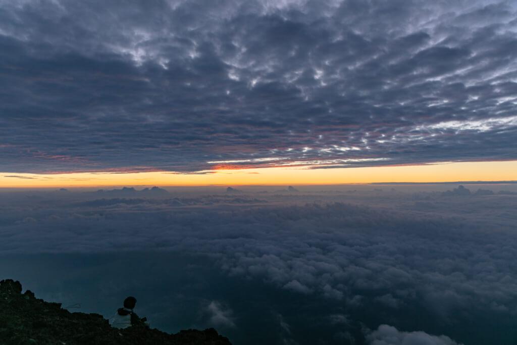 富士山 御来光直前の空6