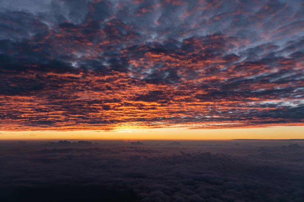 富士山 御来光直前の空7