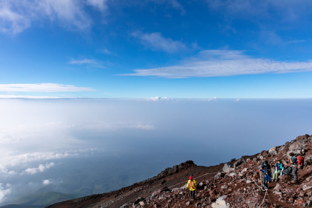 御殿場ルート 雲の上から下山2