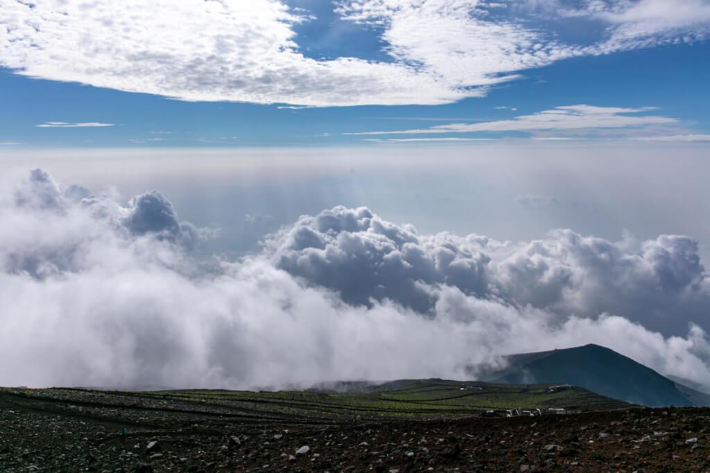 御殿場ルート 雲の上から下山5