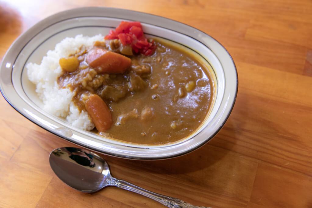 民宿 潮幸 昼食カレー