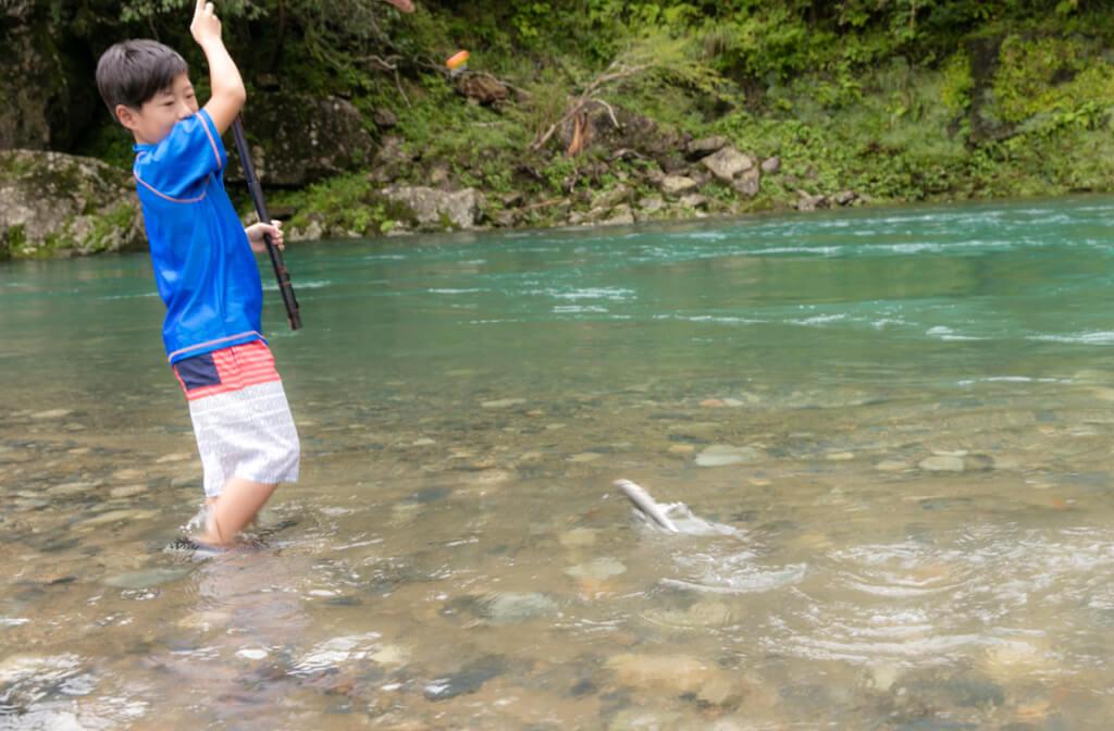 和歌山県新宮市 清流 赤木川で魚釣り3