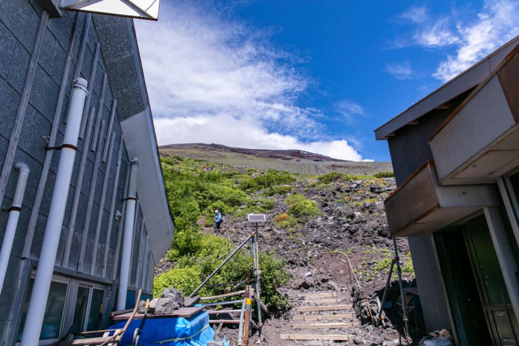富士宮口六合目からの登り