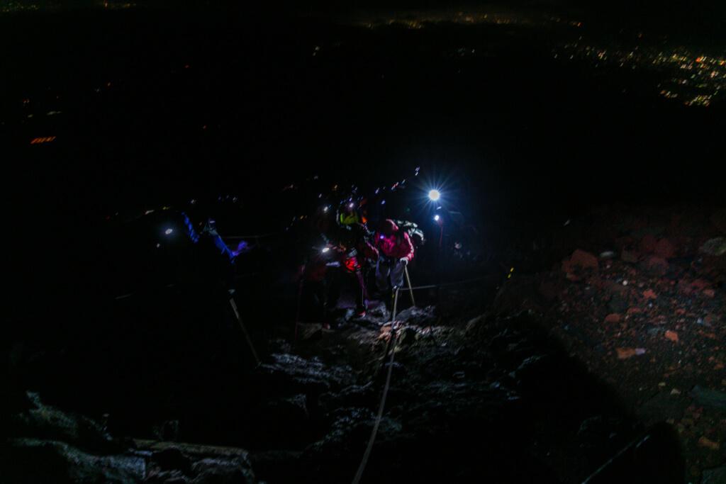富士山富士宮口 九合目〜頂上1