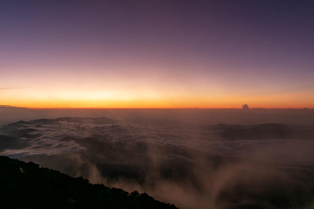 富士山富士宮口 御来光直前1