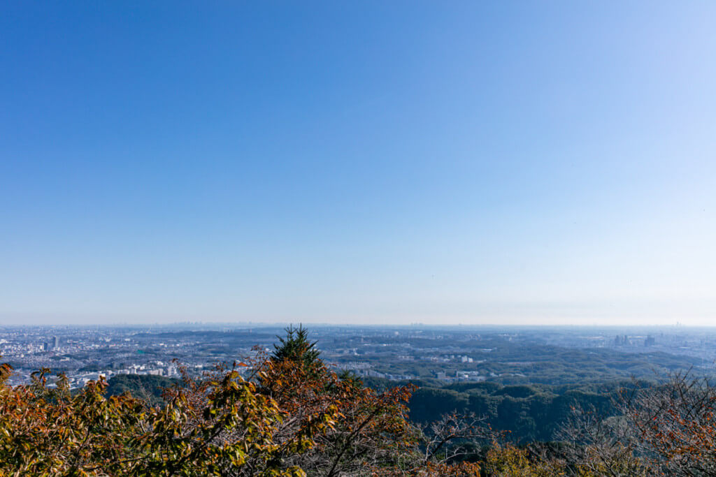 高尾山 ケーブルカー高尾山駅からの景色