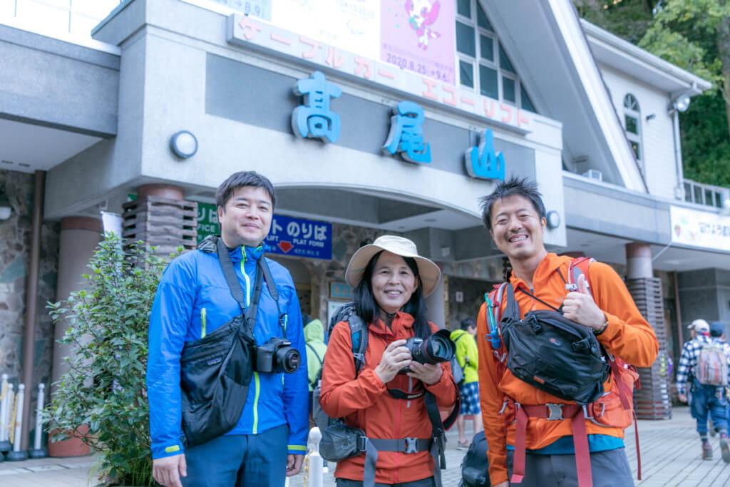 山フォトツアー 参加者の方とy-hey達