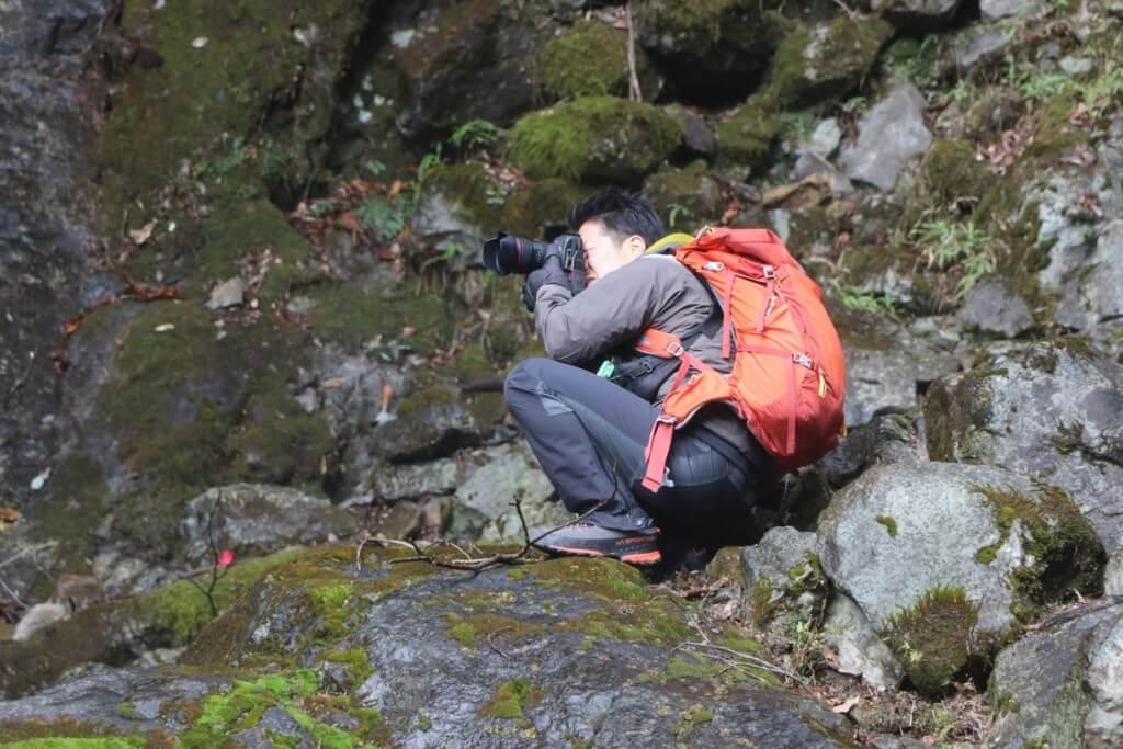 六十尋滝を撮影するy-hey