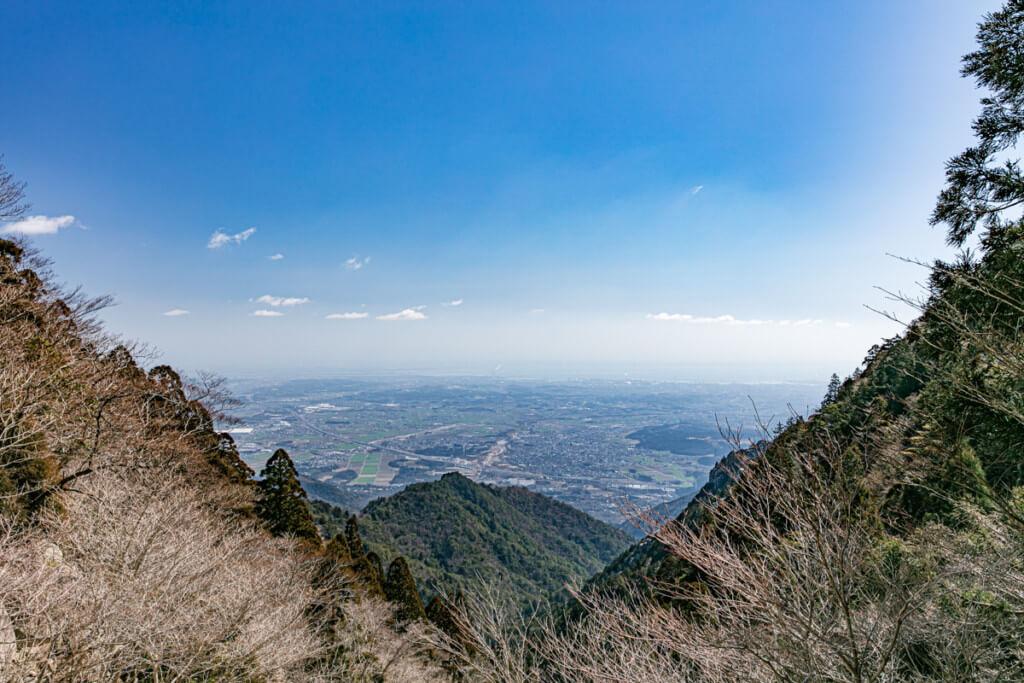 御在所岳から桑名・四日市を望む