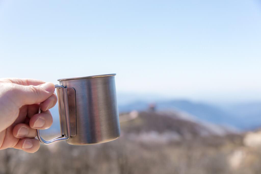 山頂でのコーヒー