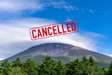 富士山登頂ツアーキャンセル