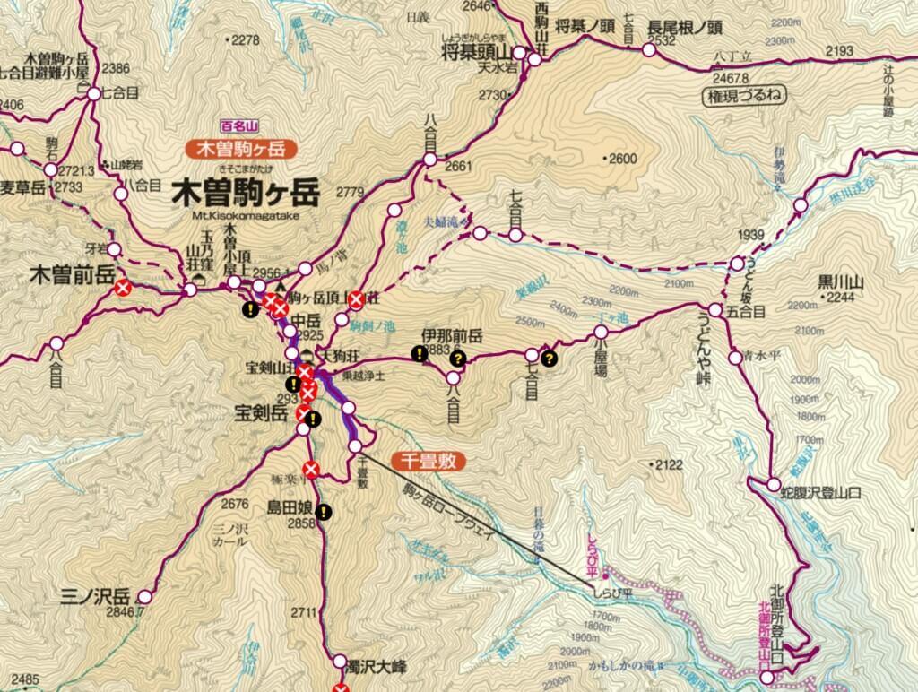 木曽駒ヶ岳 登山ルート