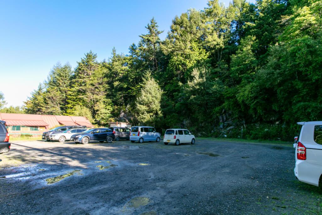 美濃戸 赤岳山荘駐車場