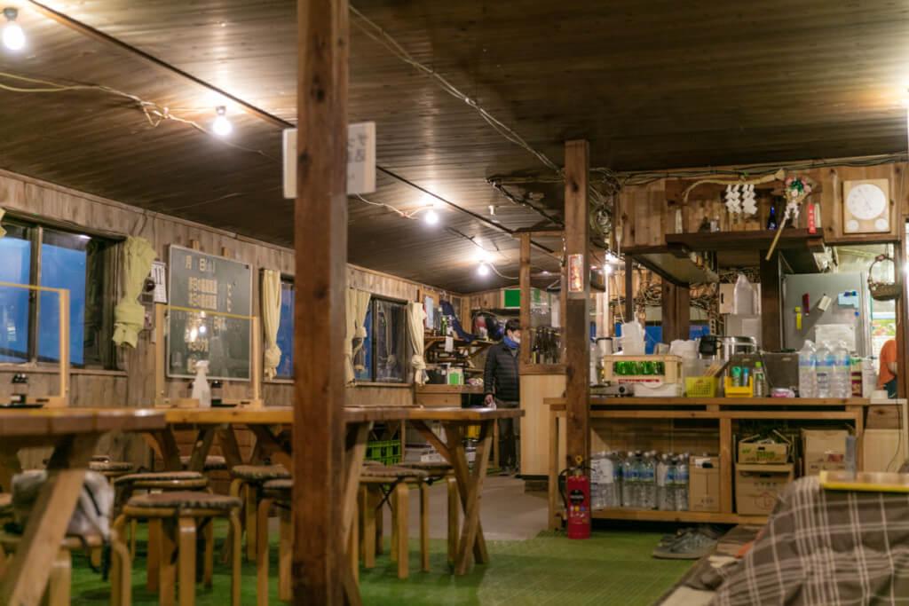 八ヶ岳 赤岳天望荘 食堂