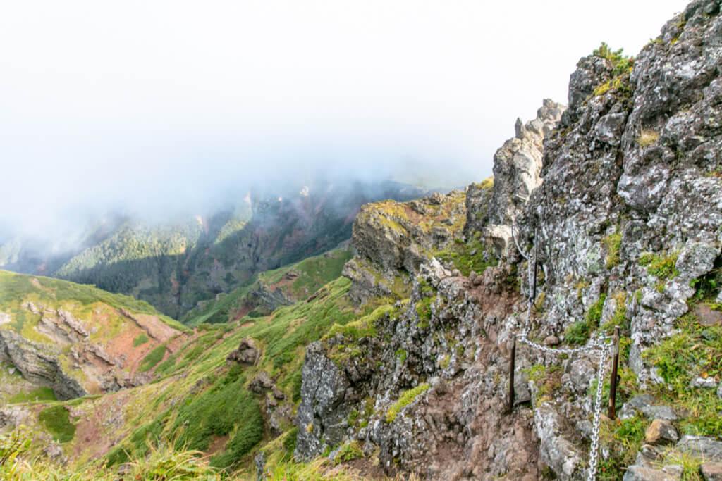 八ヶ岳 横岳 カニのヨコバイ