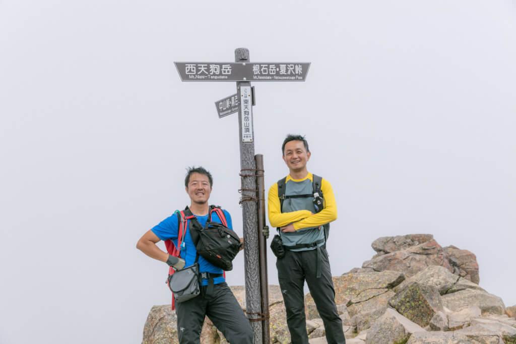 八ヶ岳 東天狗岳 山頂