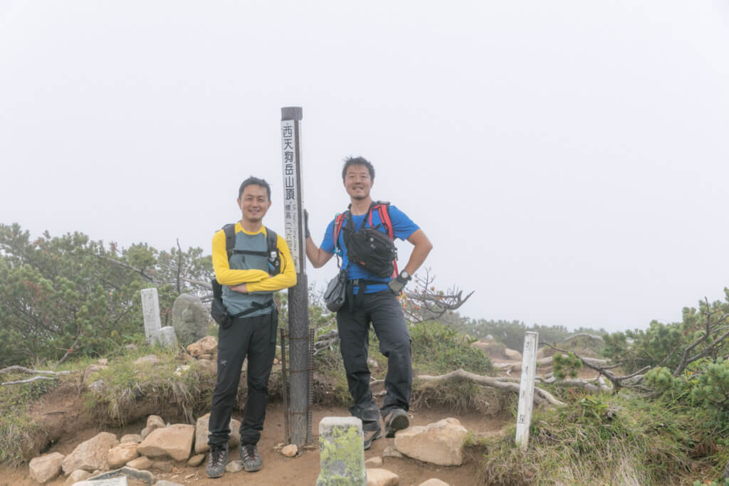 八ヶ岳 西天狗岳 山頂