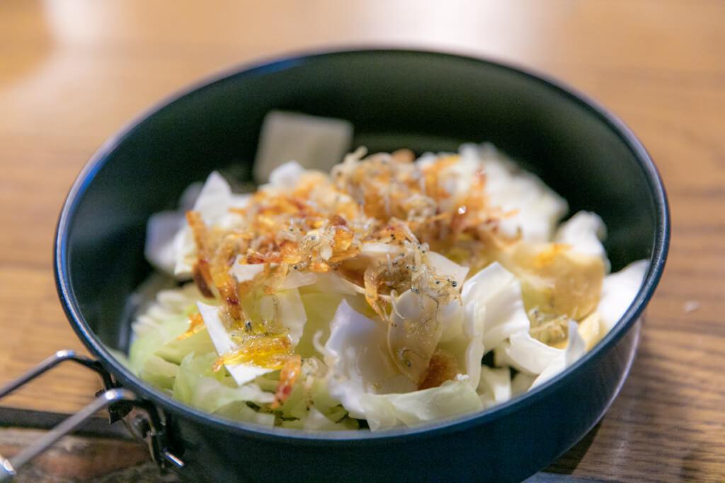 桜海老とチリメンのキャベツサラダ