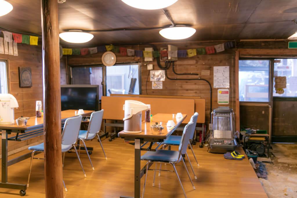 八ヶ岳 根石岳山荘 食堂