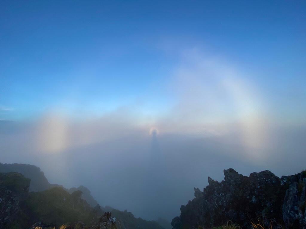 八ヶ岳 横岳 ブロッケン現象