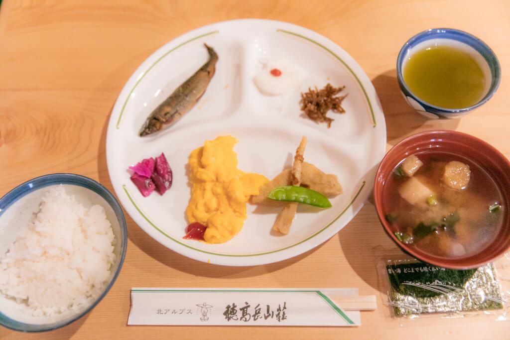 穂高岳山荘 朝食