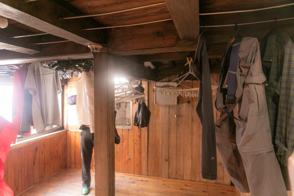 穂高岳山荘 乾燥室