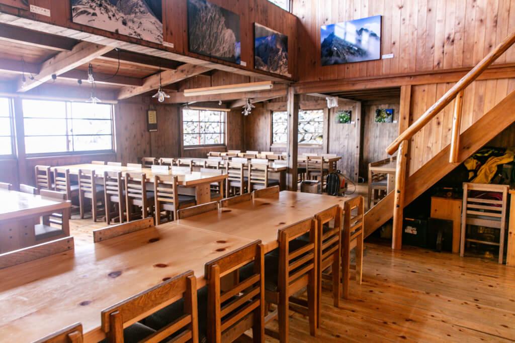 穂高岳山荘 食堂