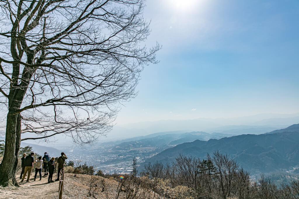 宝登山 山頂からの眺め